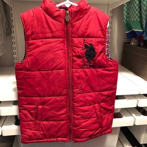 Kids Red Polo vest